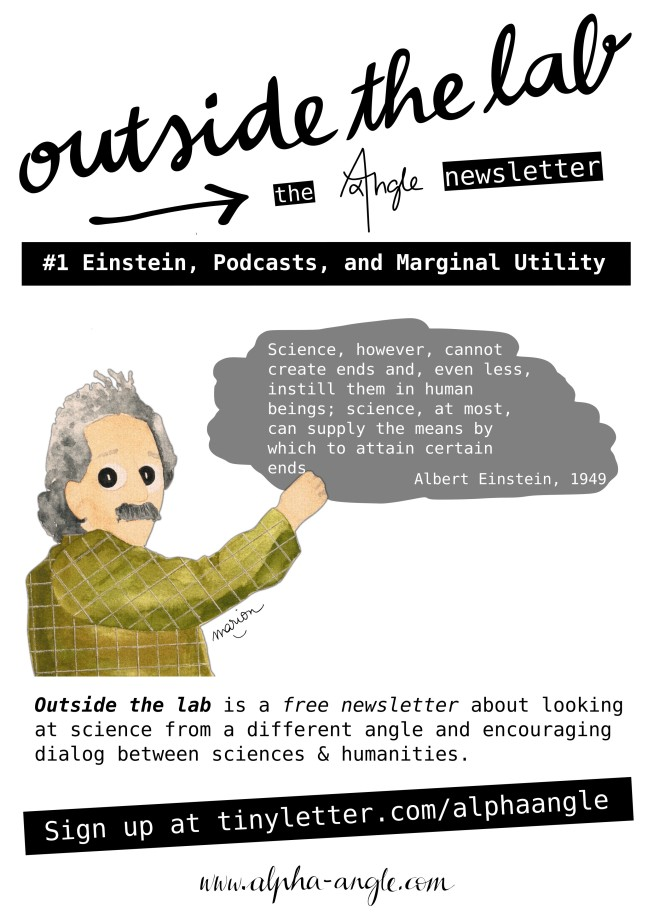 Outside The Lab #1: Einstein, Podcasts and Marginal Utility - The Alpha Angle Newsletter