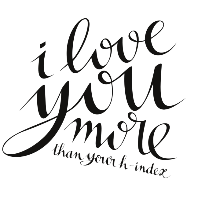 I love you more than your h-index // Free Printable Academic Valentine // Alpha Angle